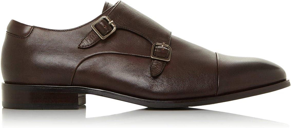 Dune Mens WF Scheme Wide Fit Monk Shoes