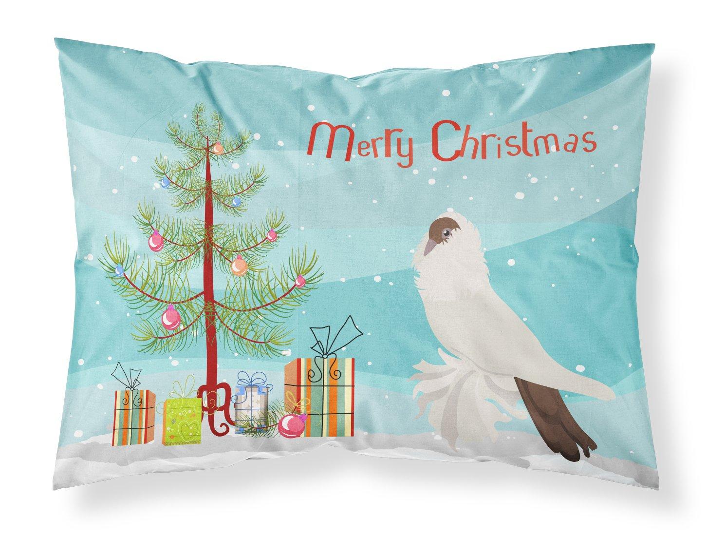 Carolines Treasures BB9311PILLOWCASE German Helmet Pigeon Christmas Fabric Standard Pillowcase Multicolor Standard