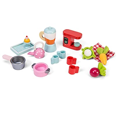 Le Toy Van Tea Time Kitchen Accessory Pack Playset Premium Wooden Toys for Kids Ages 3 Years & Up: Toys & Games