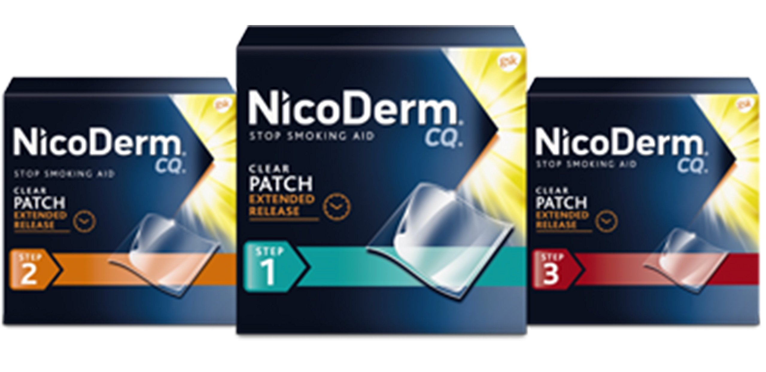 Nicoderm CQ Combo Step 1, Step 2 & Step 3 (14 Clear Patches in each Step).