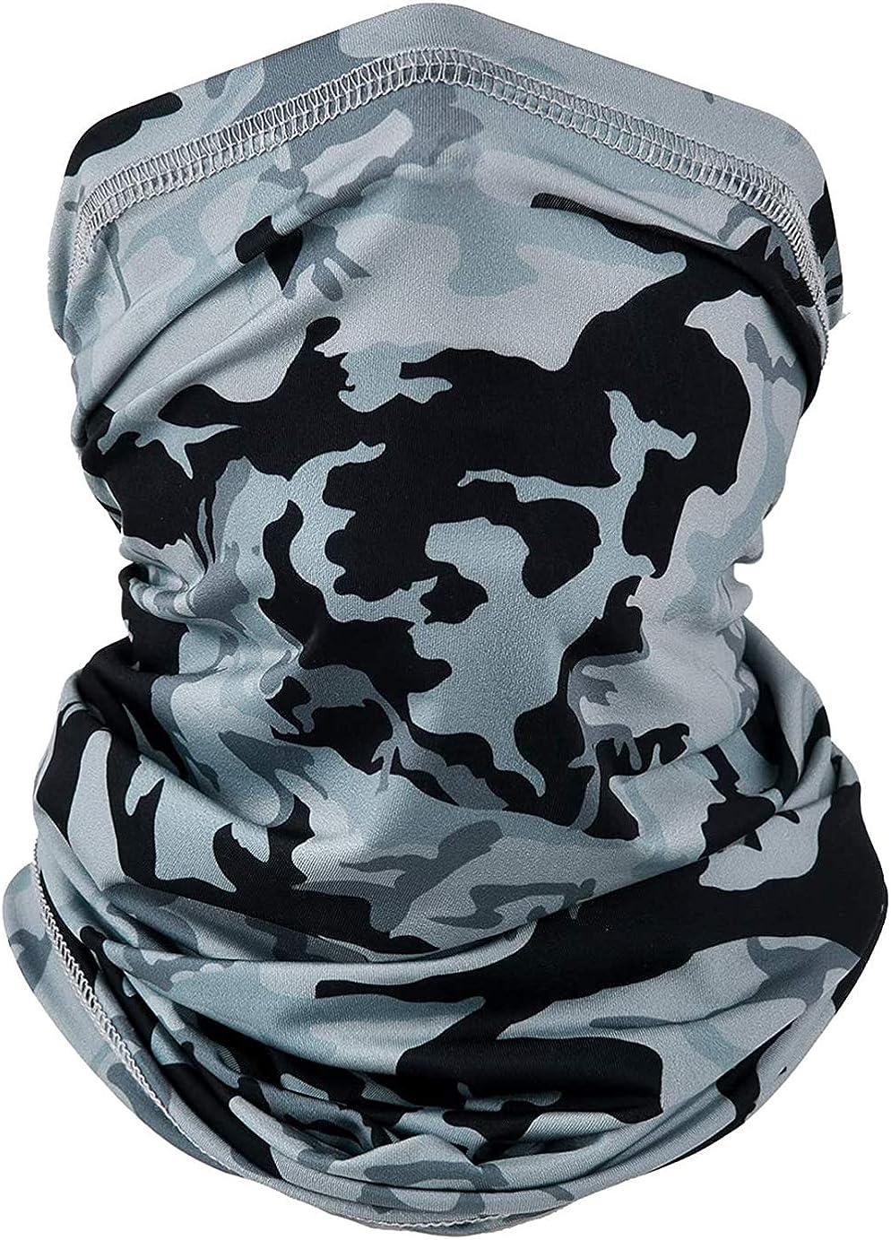 AVERYN UV Face Mask, Neck Gaiter Balaclava Bandana Headwear, Ice Silk Cooling Sports Face Scarf for Dust Outdoors