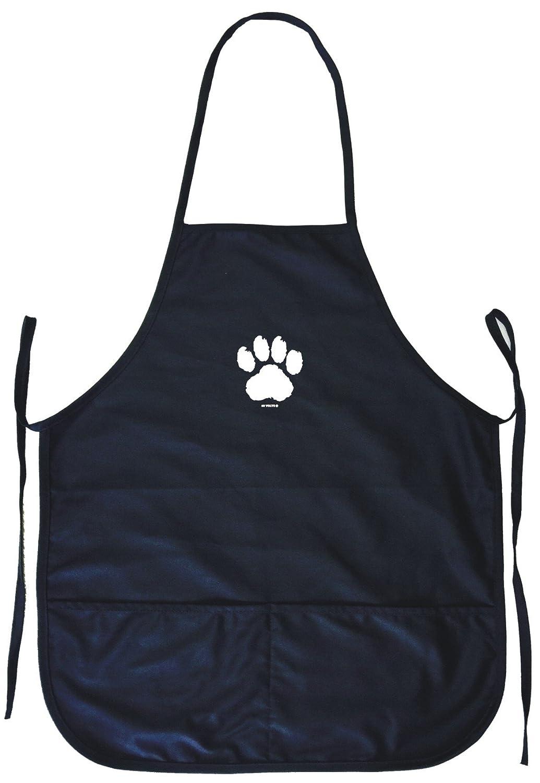 犬足プリントロゴ料理エプロンポケット付き   B0764KR7TK