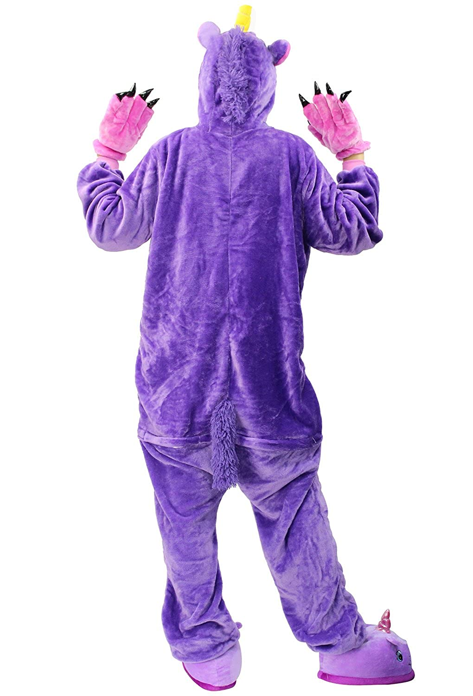 Pijamas Kigurumi Unicornio Unisexo Mono Animales Adulto Animal Jumpsuit Onesie Pyjamas Ropa de Dormir Romper Traje Disfraz de Halloween Carnaval Navidad ...