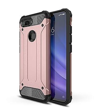 AOBOK Funda Xiaomi Mi 8 Lite, Oro Rosa Moda Armadura Híbrida Carcasa Shock Absorción Proteccion, Anti-Scratch, Funda Case para Xiaomi Mi 8 Lite ...