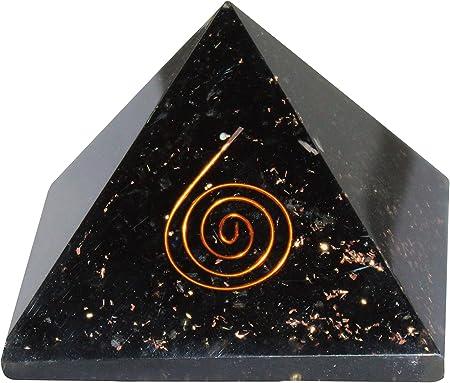 Exclusive Black Selenite Tourmaline Pyramid Malachite Ball Size 2.5-3 Inch Heal