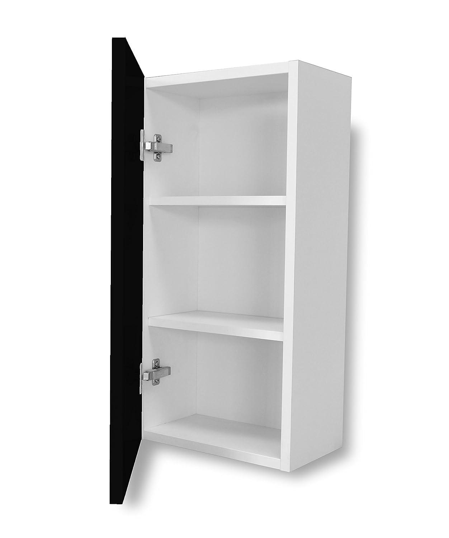 Aleghe Smooth Bathroom Side Cabinet–Black Gloss Avant Area Europe SL CPLL4A35700