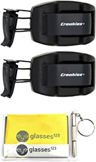 product image for Croakies Sunglass Holder, Shade Dock, Visor Clip, 2 Pack, w/Cloth and Optical Screwdriver