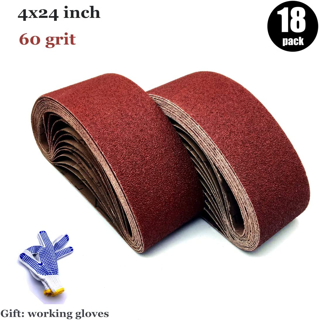 1x30in,120 Grit 1-Inch x 30-Inch Sanding Belts,120 Grit Aluminum Oxide Sanding Belt Premium Sanding Paper for Portable Belt Sander 1x30,24 Pack