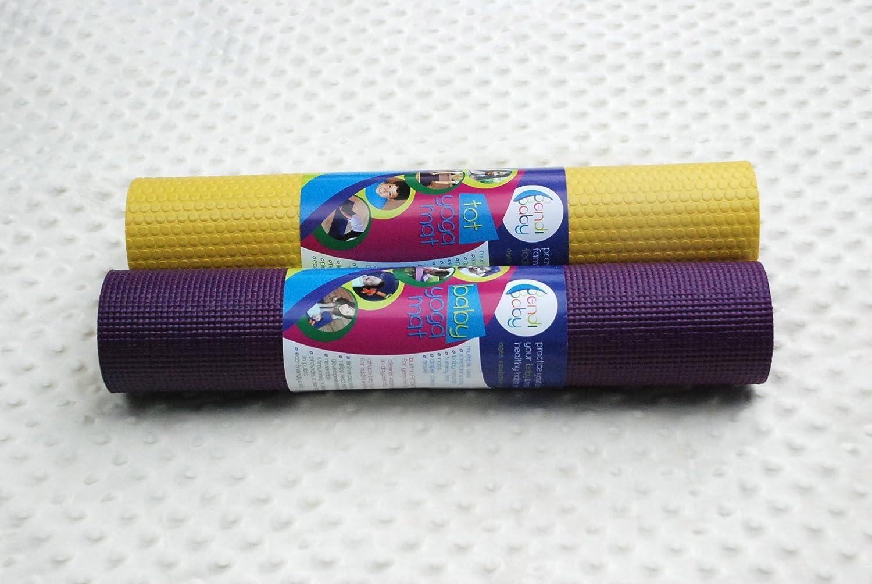 Amazon.com : Estera de yoga, ciruelo / amarillo, 0-24 Meses ...
