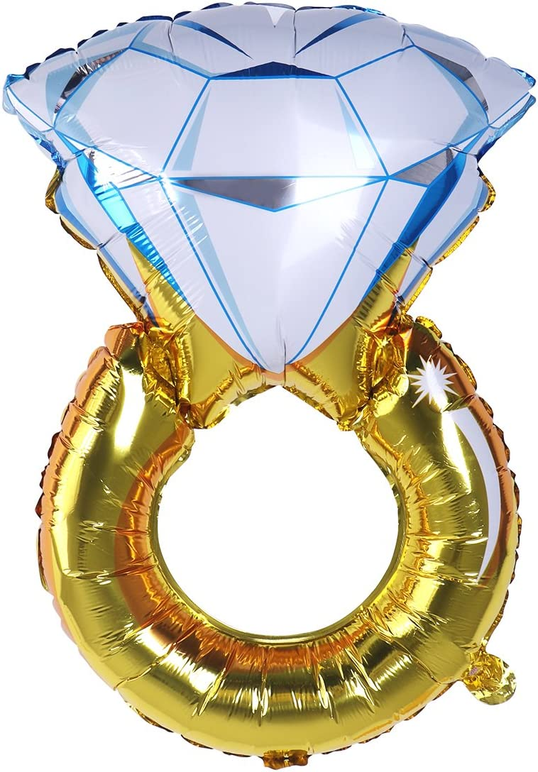 ULTNICE Globo de Anillo de Diamante para Boda Aniversario Despedida de Soltera Fiesta Decoración