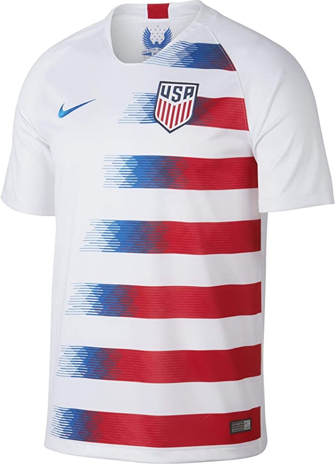 Nike 2018-2019 USA Home Football Soccer T-Shirt Camiseta: Amazon ...