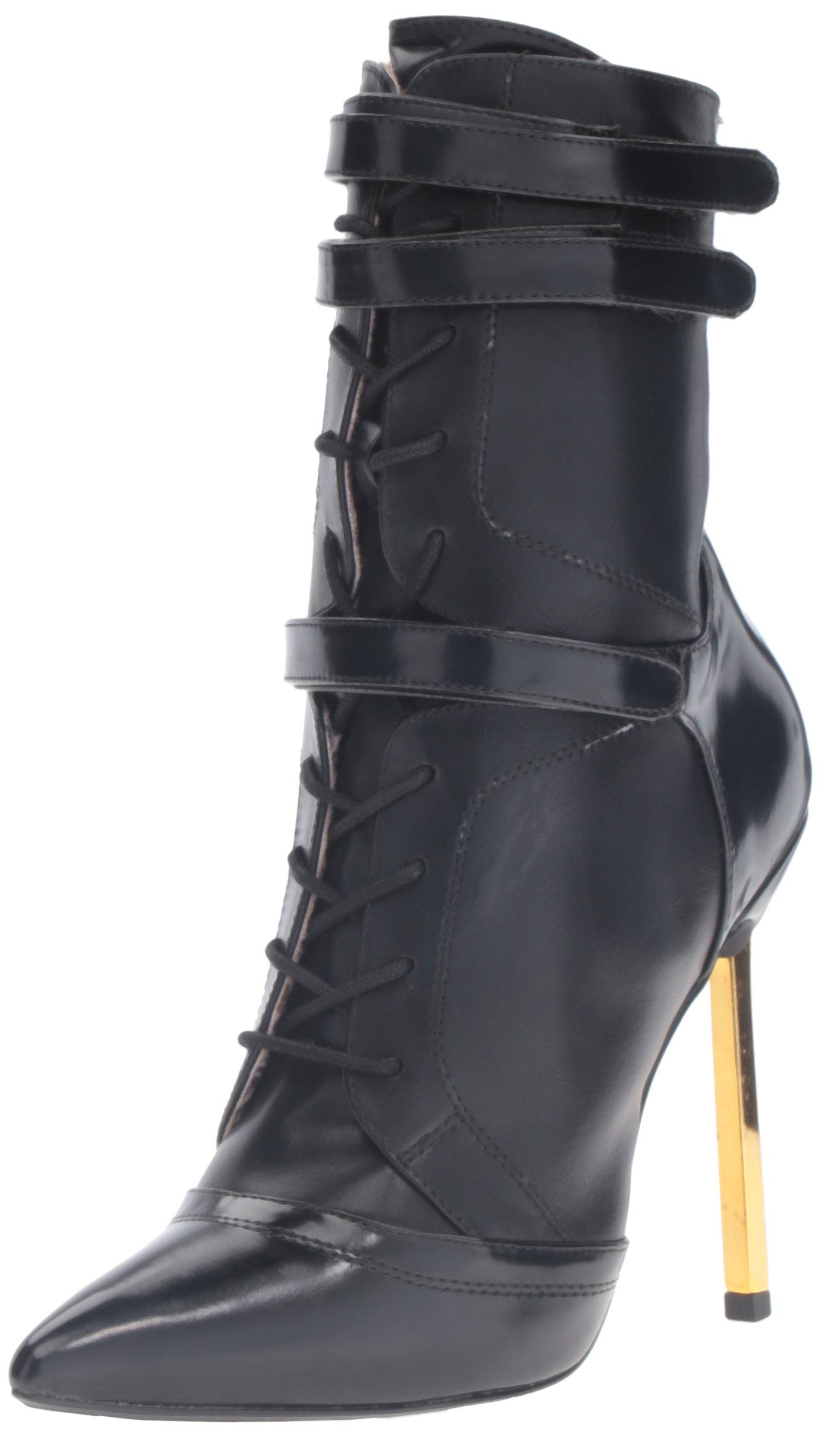 Luichiny Women's Fine by Me Ankle Bootie, Black, 7 M US