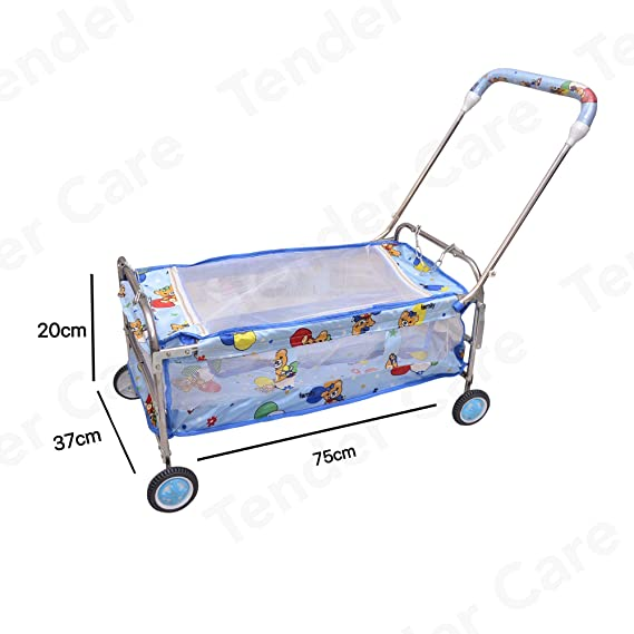 Tender Care India Baby Printed Cradle - Swing Baggi Jhula (Blue)