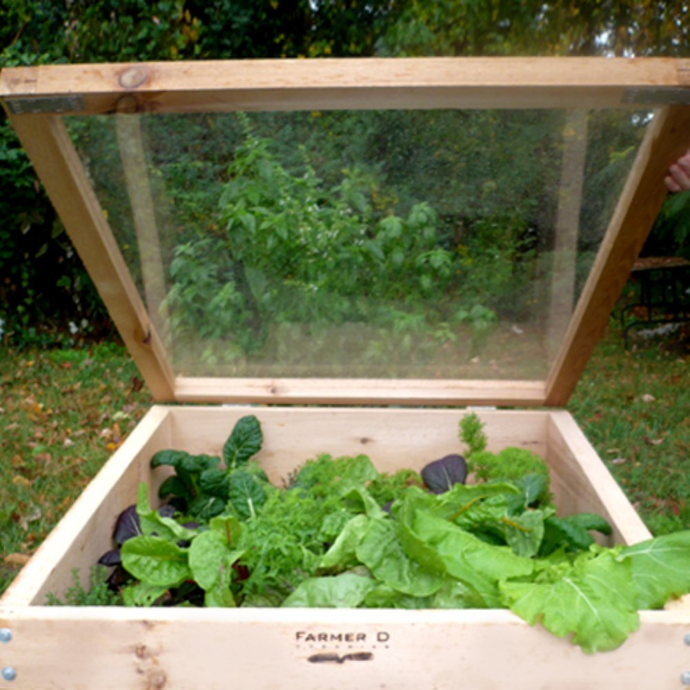 Farmer D Organics Cedar Cold Frame 3 x 3 ft. by Farmer D