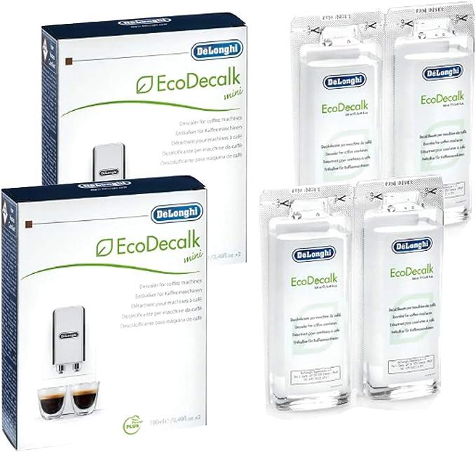 Delonghi EcoDecalk unidades Mini 2 (total 4 x 100 ml bolsas ...