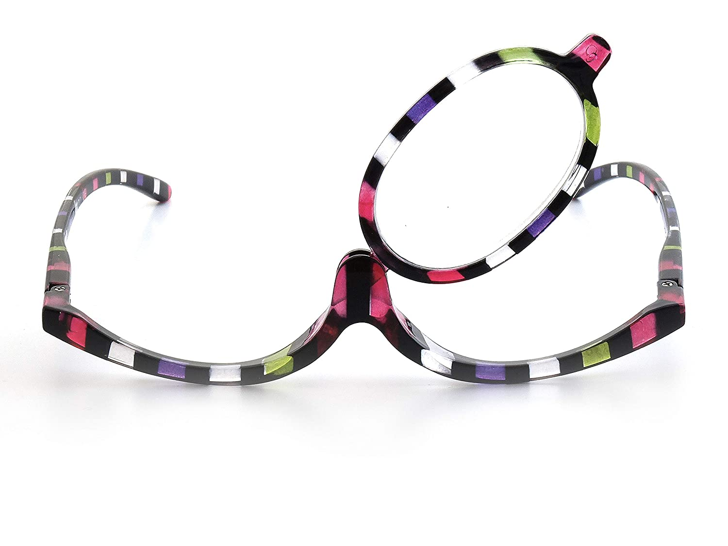50c51f3bd72 Make-Up Glasses Multi Stripe by Goodlookers with Switchable Lense  GX1039MUL  Amazon.co.uk  Health   Personal Care