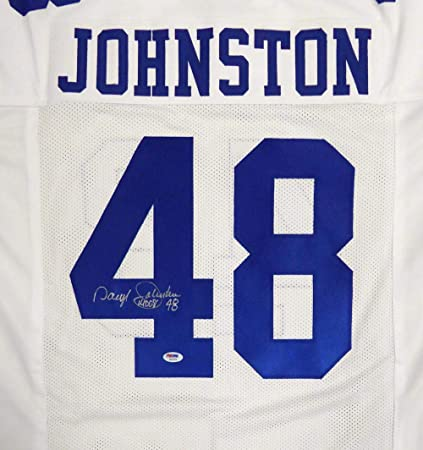 "aeeef4ce6 Dallas Cowboys Daryl Johnston Autographed White Jersey""Moose""  Stock #113747 - PSA/"