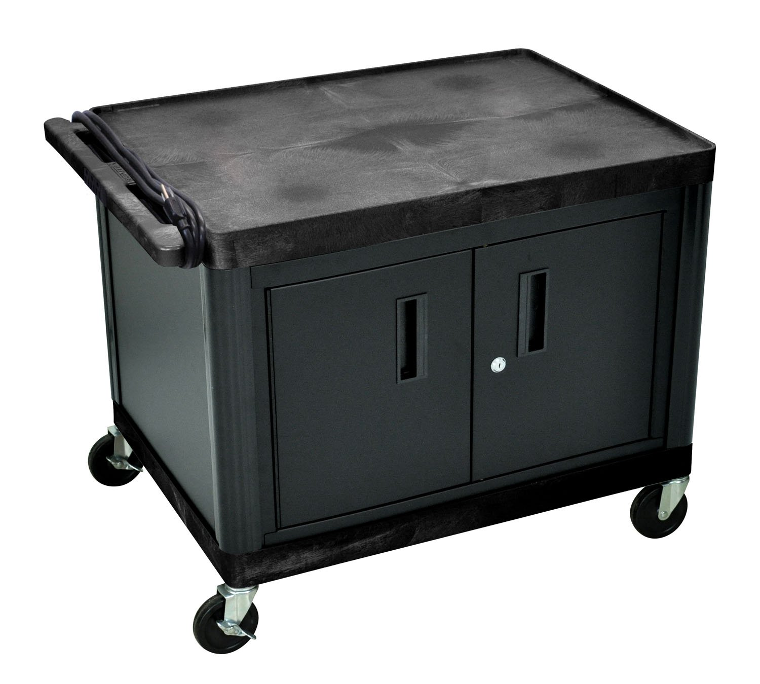 Luxor 27'' H A/V Multipurpose Utility Cart with Locking Cabinet