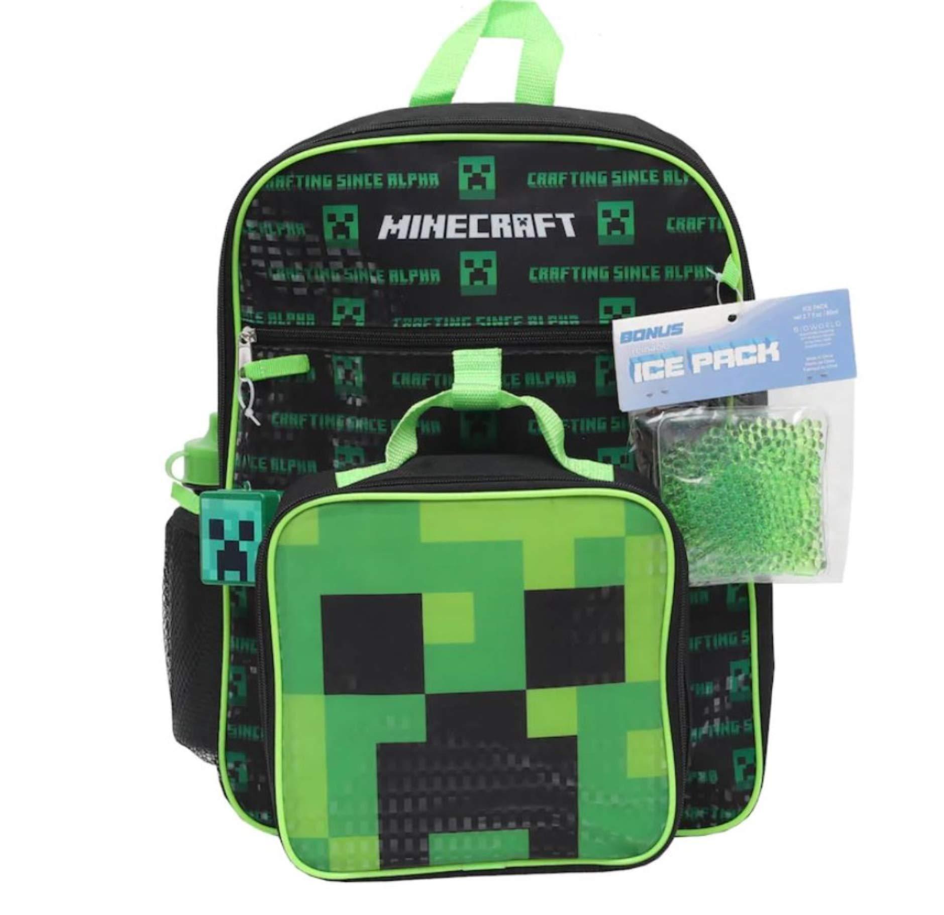 Minecraft 5-Piece Backpack Set