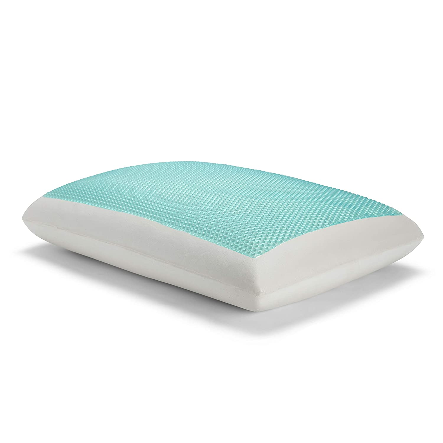 Sealy essentials Memory Foam Gel Cooling Pillow, Standard, white