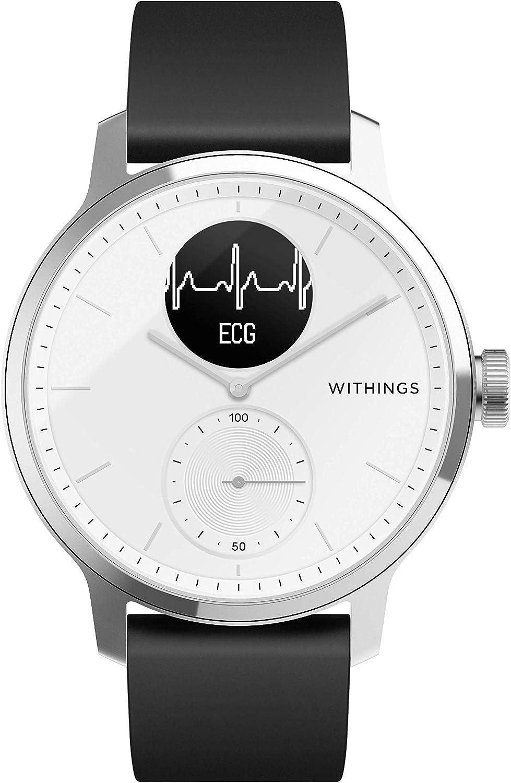 Withings Scanwatch Montre Connectée Hybride avec ECG, Fréquence Cardiaque, SPO2 et Suivi...