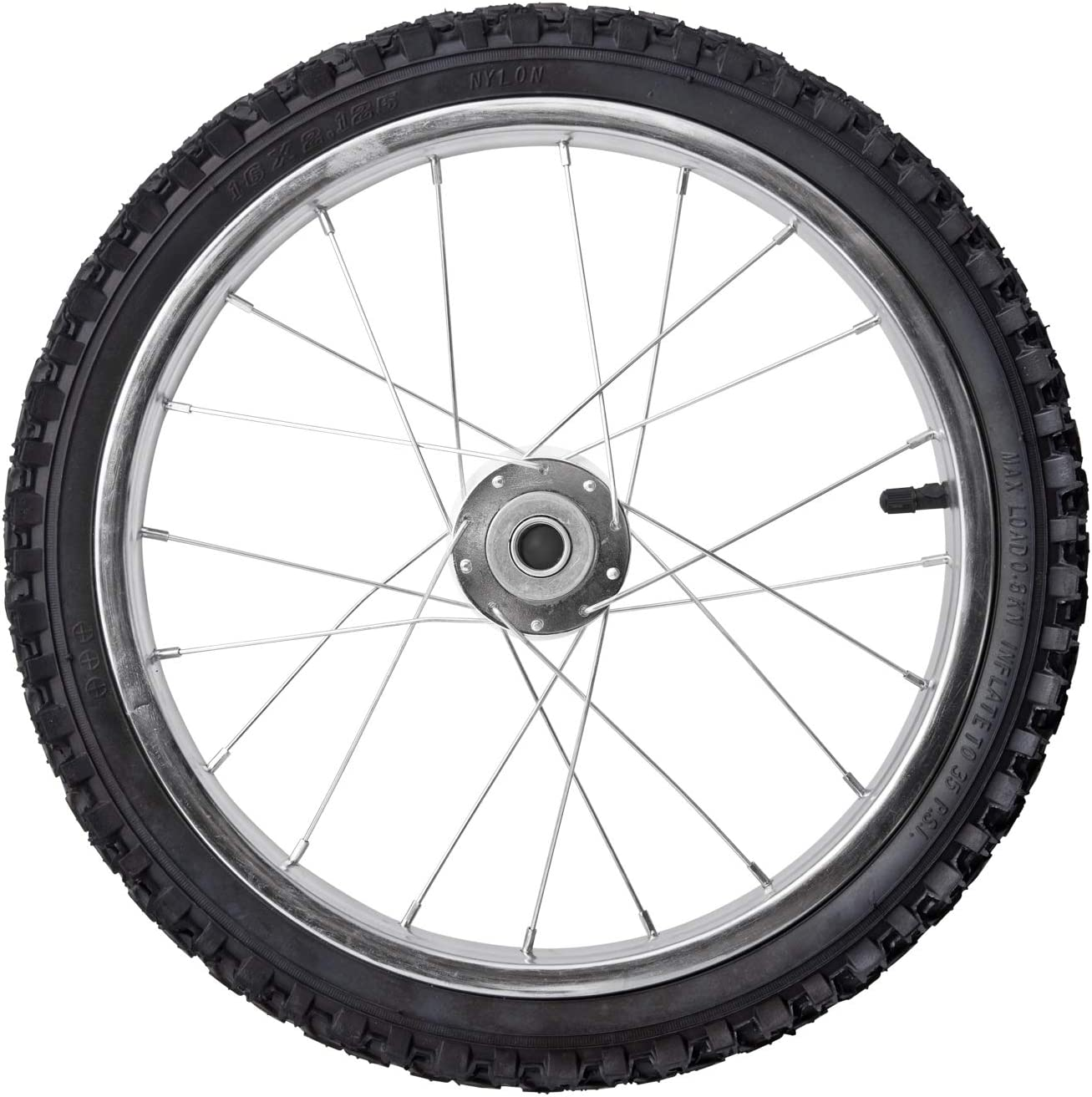 Liberty Garden Products WHL0002 Replacement Spoked Wheel, Silver