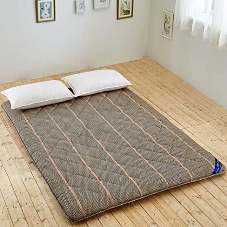 DJQ Matelas futon Traditionnel Japonais 31x75inch Tapis de Sol en Tatami antid/érapant Coussin de Couchage Matelas Pliable Lit dinvit/é /à Enrouleur pour dortoir Chambre E 80x190cm