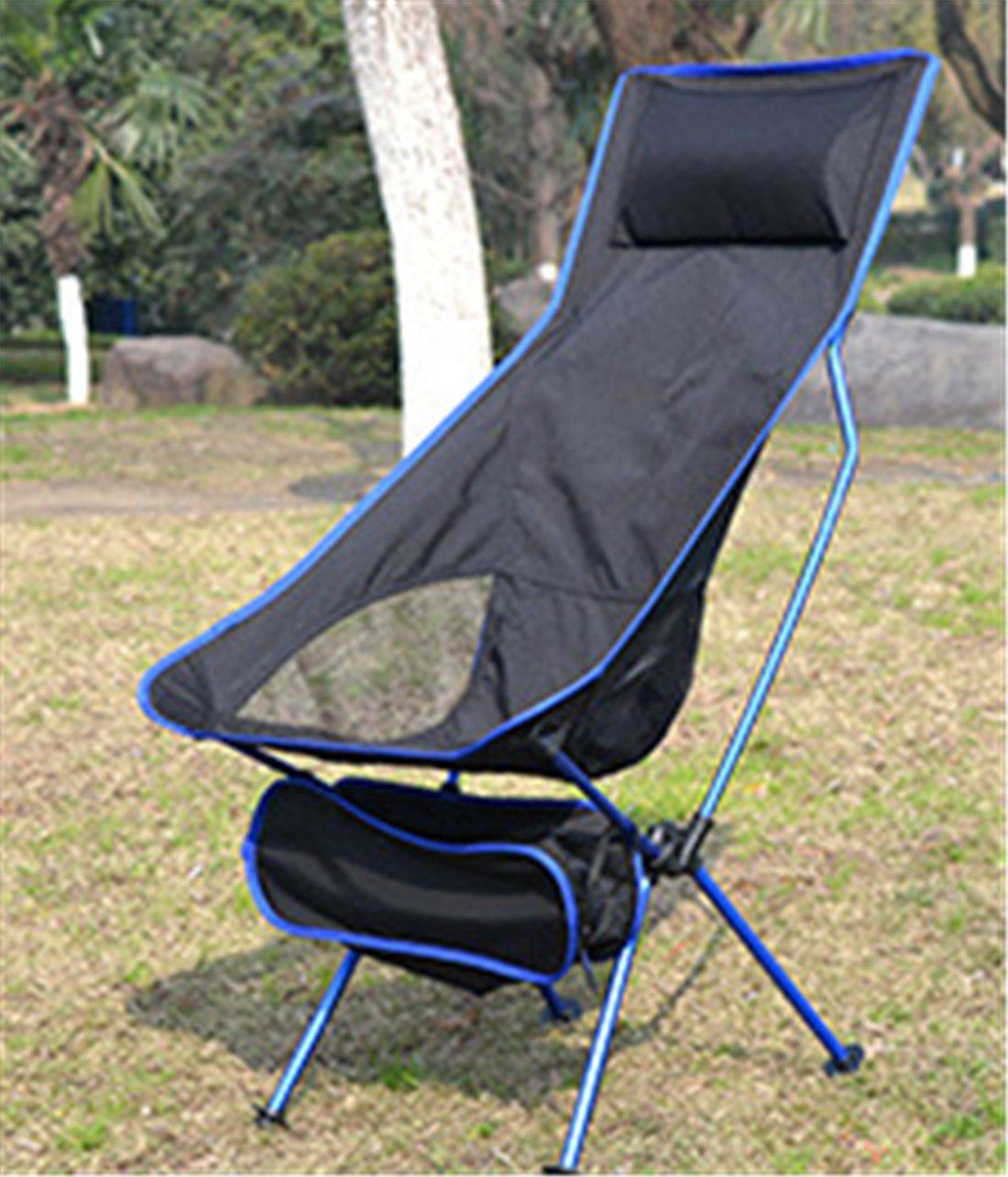 Yeying123 Erweiterter Klappstuhl Im Freien Moon Chair 7075 Aluminiumlegierungsstuhl Beweglicher Fischenstuhldirektorstuhl mit Kissen