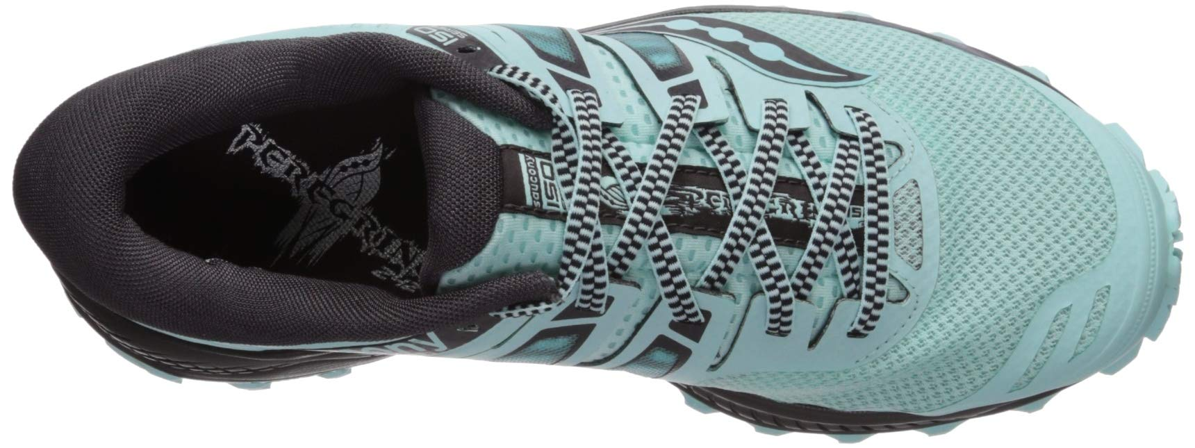 Saucony Women's Peregrine ISO Trail Running Shoe, Aqua/Grey, 5 M US by Saucony (Image #8)