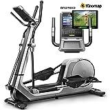 Sportstech Bicicleta elíptica LCX800, Luxus Pantalla Android Multifuncional, Volante 24Kg, App Smartphone,Bluetooth,Compatible con Pulseras de Actividad,12 programas de Entrenamiento