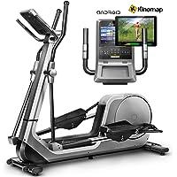 Sportstech LCX800 Luxus Crosstrainer mit Edler Android-Multifunktionskonsole, 24Kg Schwungmasse, Kinomap App, Bluetooth-& Pulsgurtkompatibel, 12 Trainingsprogramme, HRC + Tablet-Halterung