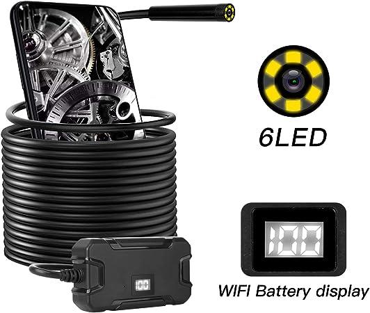 Telecamera per endoscopio wireless HD1080p Telecamera per ispezione boroscopio WiFi Impermeabile IP67 Telecamera serpente flessibile Y13 8.0mm per Iphone Android Phone Tablet PC 10 metri