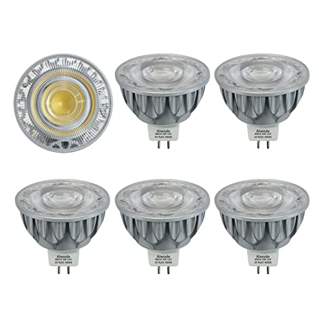 MR16 LED GU5.3 Bombillas,5W Equivalente 50W,4000K Blanco Natural,Angulo 36 Grados,Disipador Calor Aluminio,Ra95,12V,no Regulable,paquete de 5.