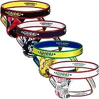 ADANNU Men's Jockstrap Athletic Supporters Micro Fiber Pouch 4-Pack Cartoon Jock Strap Athletic Underwear