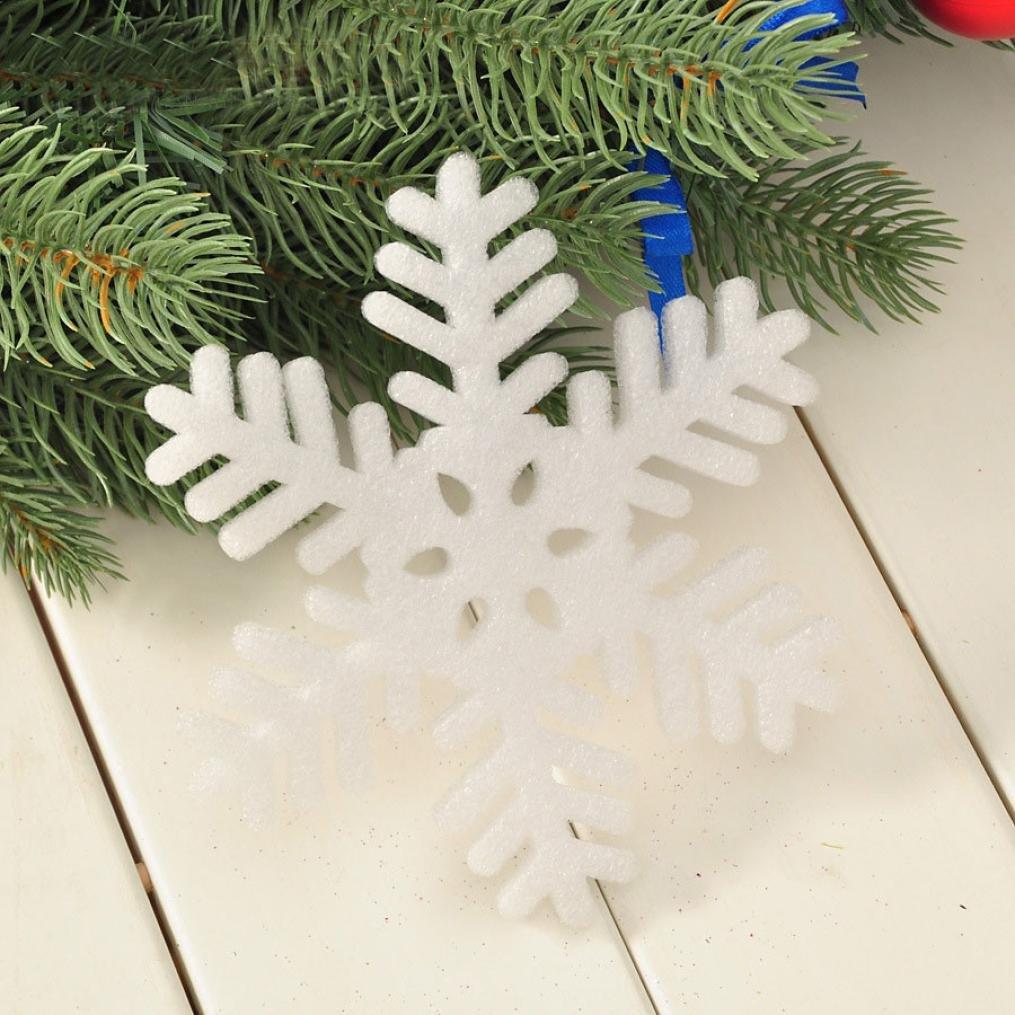 Adornos, decoraciones de hatop nuevo clásico copos Navidad vacaciones fiesta hogar Decor (2): Amazon.es: Hogar