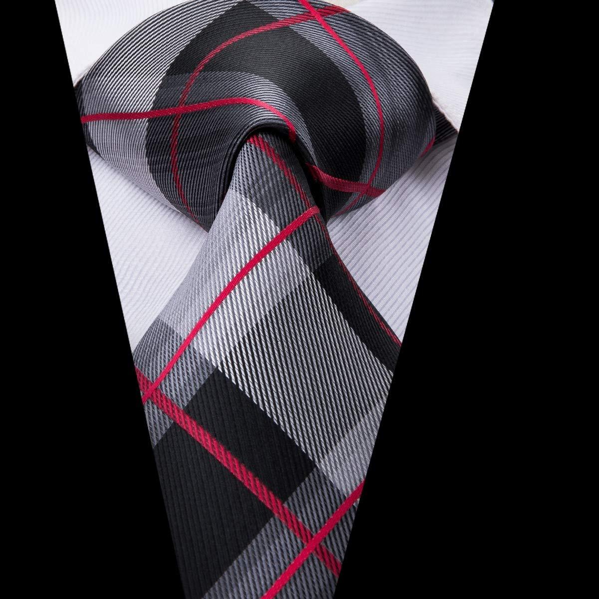 AK Corbata de corbata de seda para hombre Corbata de seda a rayas ...