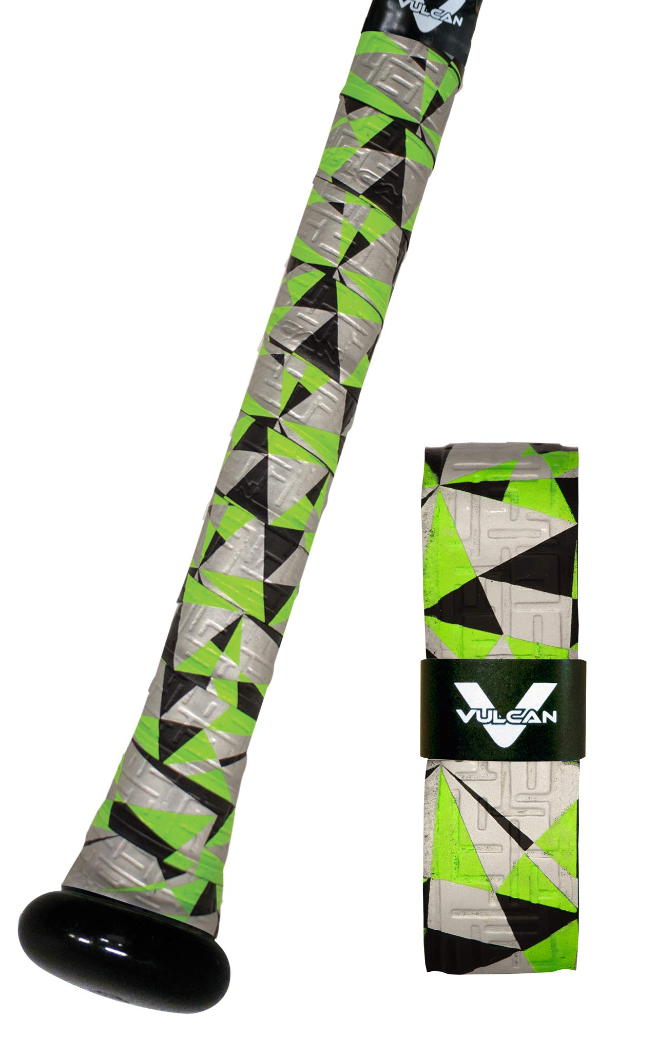 Vulcan 1.75mm Bat Grips/Green Glow by Vulcan