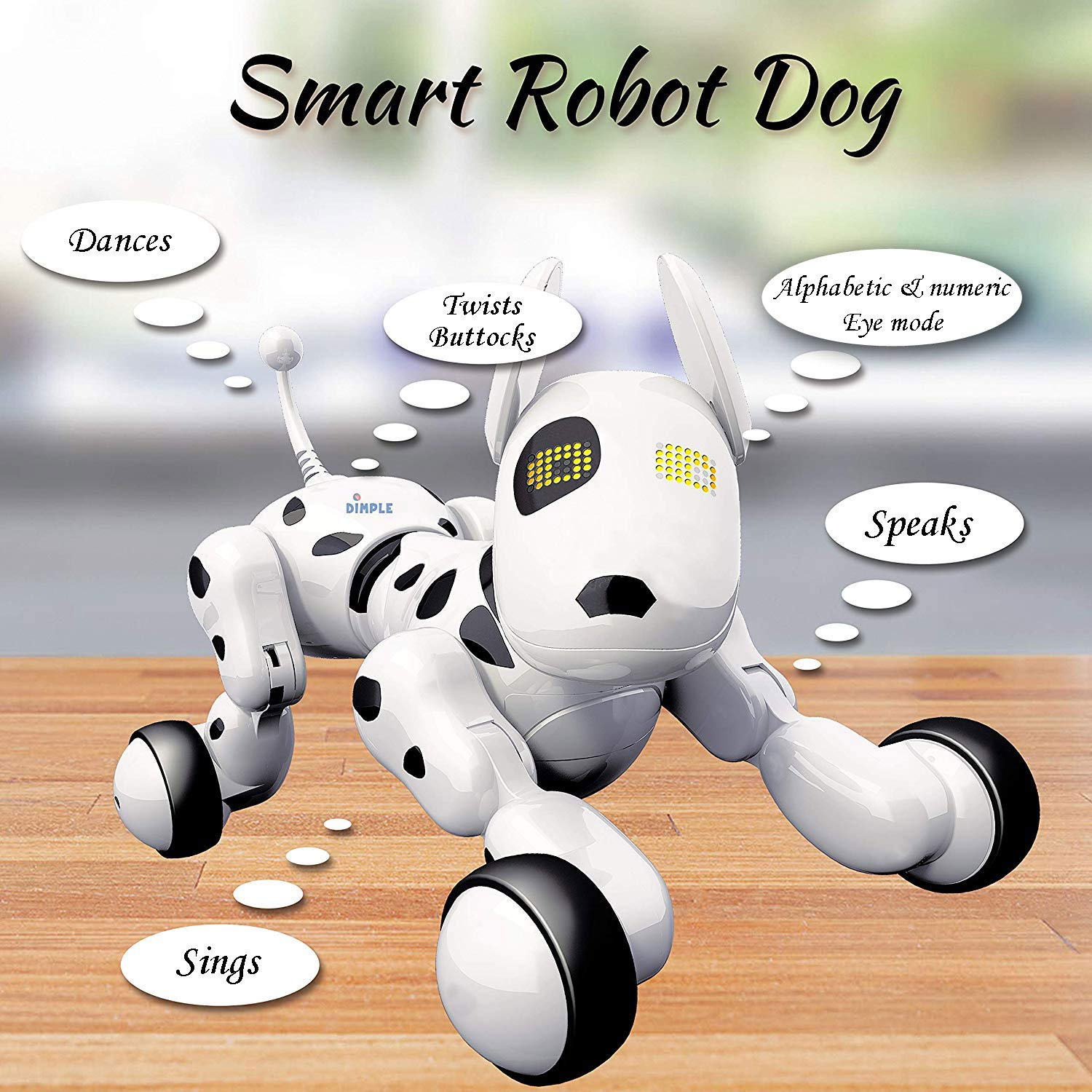 Dimple Interactive Robot Puppy With Wireless Remote Control RC Animal Dog Toy That Sings, Dances, Eye Mode, Speaks for Boys/Girls, Perfect Gift for Kids. by Dimple (Image #5)