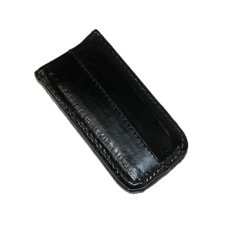 MJ Masters Men's Eel Skin Large Magnetic Money Clip, Black