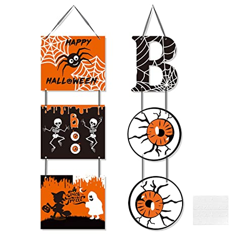 Amazon.com: Cartel para puerta de Halloween con diseño de ...