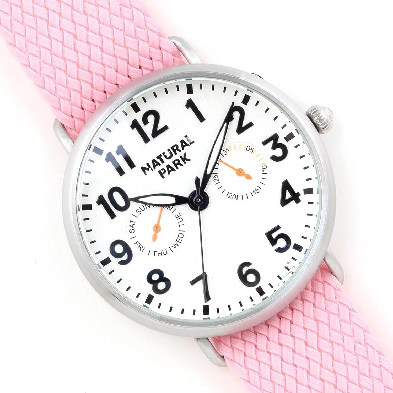 Wasserdicht Japanische Quratz Handgelenk Uhren mit Tag Datum Fenster weiß Zifferblatt pink Nylon Strap