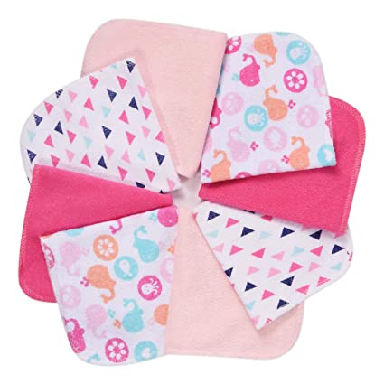 6 Pack Soft Absorbent /& Reusable Wipes for Babies /& Adults Bamboo Baby Washcloths 100/% Natural Hypoallergenic Face Towels for Eczema /& Sensitive Skin Thick