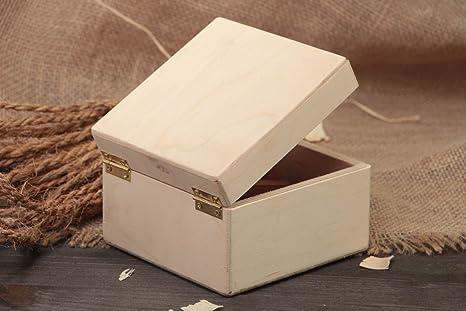 Pieza para manualidades original hecha a mano caja pequena para decorar