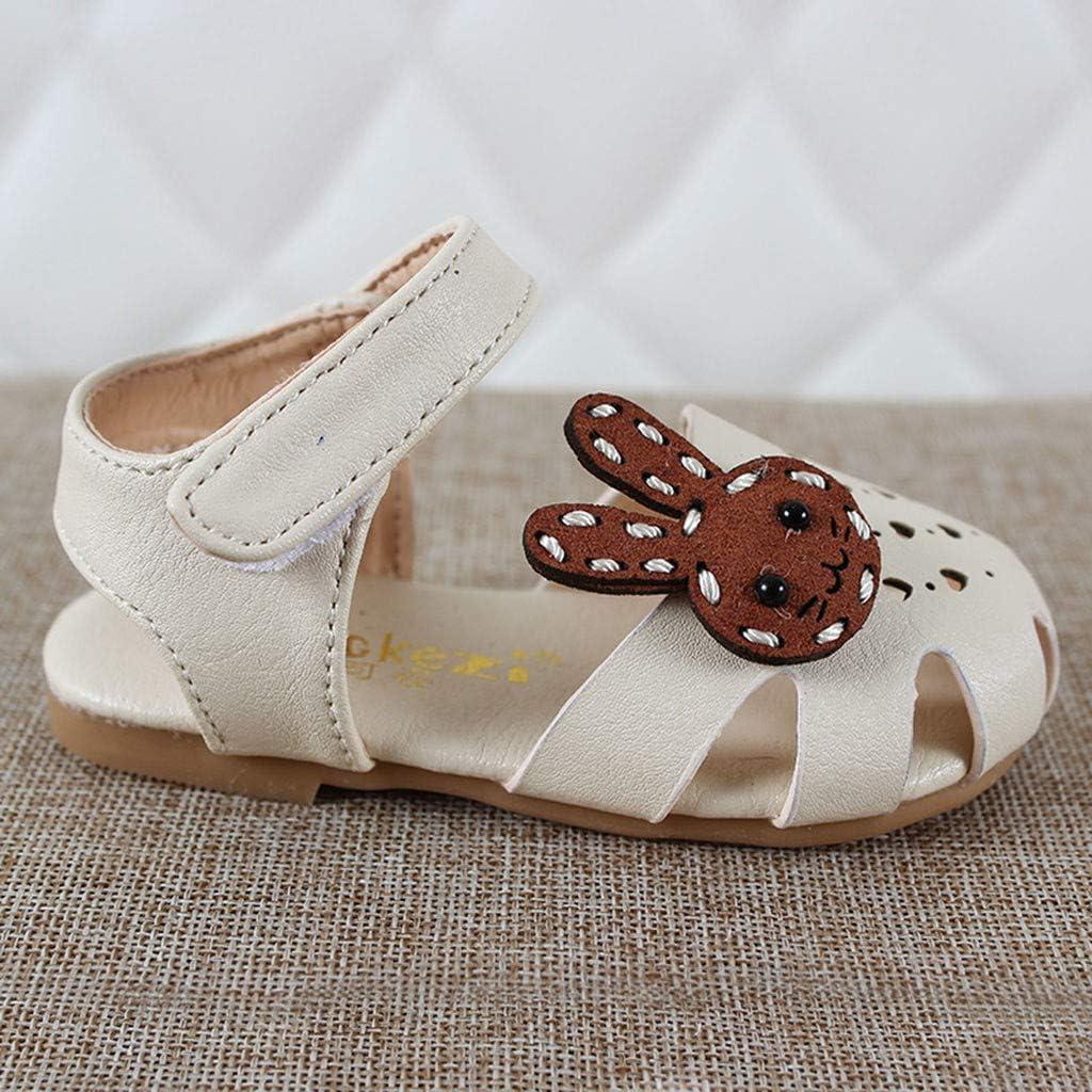 Buoyee Summer Toddler Kids Baby Girls Rabbit Heart Hollow Sandals Princess Shoes