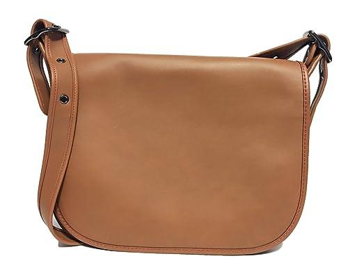 Amazon.com  COACH Women s Gloveton Leather Saddle Bag DK Saddle ... 389e5280f5