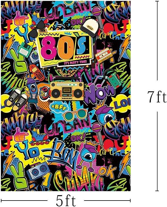 Mehofoto Hip Hop Back To 80er Jahre Themed Erwachsene Kamera