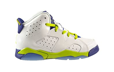 121809eff5963f Jordan 6 Retro GP Little Kids Shoes White FRC Green-Deep Royal Blue-