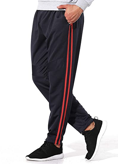 adidas Jogging Hosen Herren 3 Streifen Sporthose lang schwarz, Größe:M