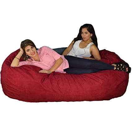 Large Bean Bag Chair 8 Foot Cozy Beanbag Filled with 68 Lbs of Premium Cozy Foam  sc 1 st  Amazon.com & Amazon.com: Large Bean Bag Chair 8 Foot Cozy Beanbag Filled with 68 ...