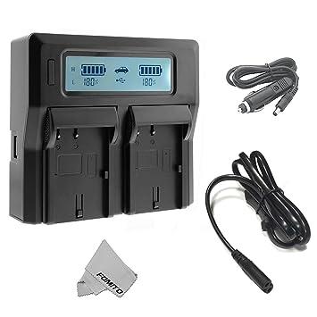 Cargador de batería Fomito dual digital con pantalla LCD para Sony NP-F970 F960 F950 F750 F550 FM50 HDV Baterías
